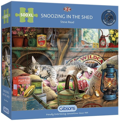 Snoozing in the Shed Puzzel (500 XL)