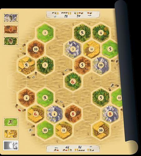 Speelmat Catan Basisspel - Scenario Desert-1