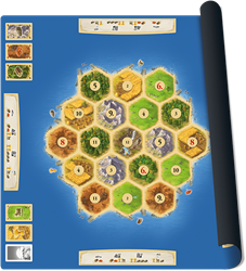 Speelmat Catan Basisspel - Scenario Gold