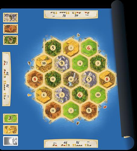 Speelmat Catan Basisspel - Scenario Gold-1