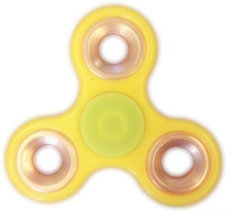 Fidget Spinner - Geel / Bronze