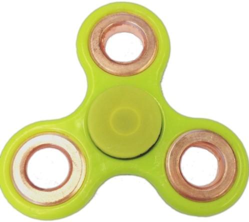 Fidget Spinner - Lichtgroen / Bronze