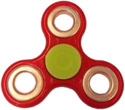 Fidget Spinner - Rood / Bronze