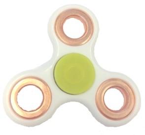 Fidget Spinner - Wit / Bronze
