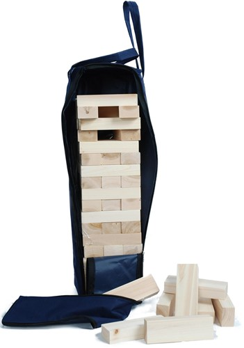 Stapeltoren XL hout in tas (60x15x15cm)