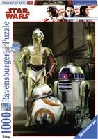 Star Wars - C3PO, R2D2 & BB8 Puzzel (1000 stukjes)-1