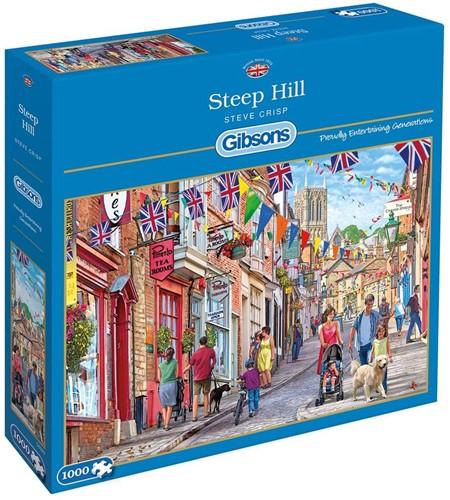 Steep Hill - Steve Crisp Puzzel (1000 stukjes)