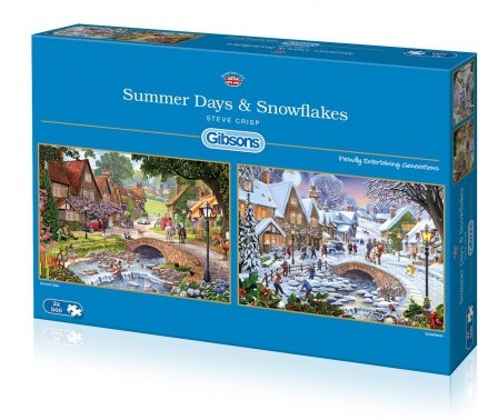 Summer Days & Snowflakes - Steve Crisp Puzzel (2 x 500 stukjes)