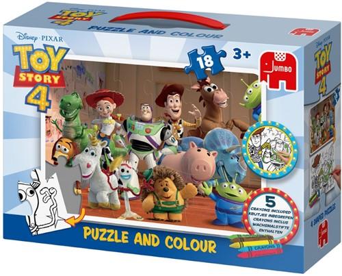 Disney Toy Story 4 - Puzzle & Colour (18 stukjes)