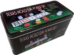 Texas hold'em Poker Set (Blik ingedeukt)