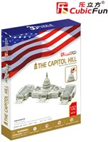 3D Puzzel - U.S. Capitol (132 stukjes)-1