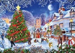 The Village Christmas Tree (1000 stukjes)
