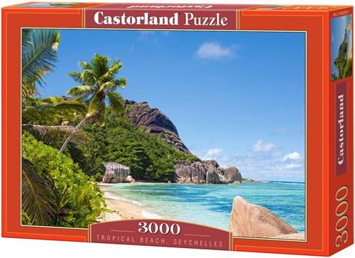 Tropical Beach, Seychelles Puzzel (3000 stukjes)