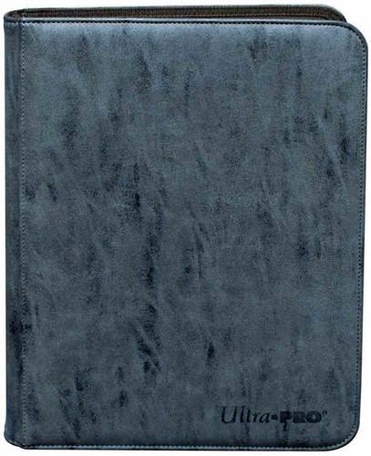 Zippered Suede 9-Pocket Pro-Binder - Sapphire Blue
