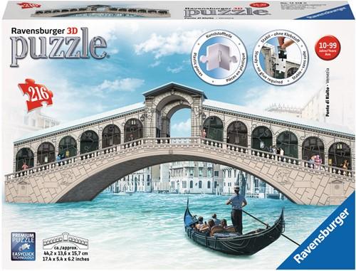 3D puzzel - Ponte de Rialto Venetie (216 stukjes)