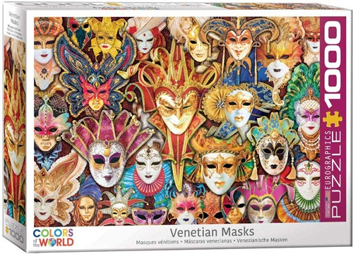 Venetian Masks Puzzel (1000 stukjes)