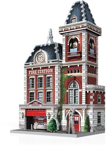 Wrebbit 3D Puzzel - Urbania Fire Station (285 stukjes)