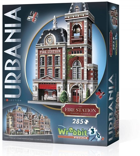 Wrebbit 3D Puzzel - Urbania Fire Station (285 stukjes)-1