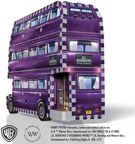 Wrebbit 3D Puzzel - Harry Potter The Knight Bus (280 stukjes)-2