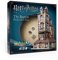 Wrebbit 3D Puzzel - Harry Potter The Burrow (415 stukjes)-1