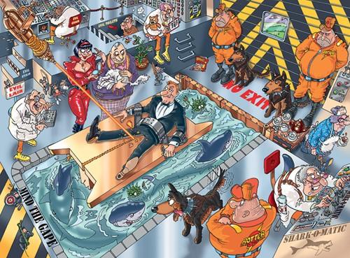 Wasgij Mystery Puzzel 13 - Geen Ontkomen Aan! (1000 stukjes)-2