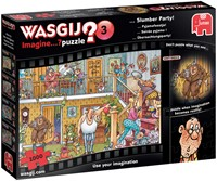 Wasgij Imagine Puzzel 3 - Pyjamafeestje! (1000 stukjes)-1