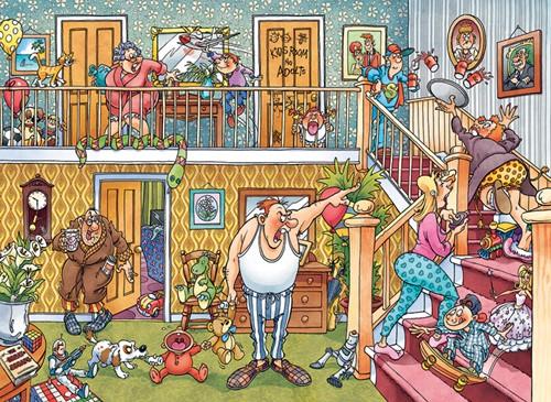 Wasgij Imagine Puzzel 3 - Pyjamafeestje! (1000 stukjes)-2