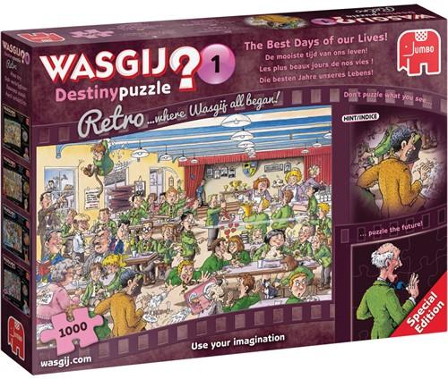 Wasgij Retro Destiny Puzzel 1 - De Mooiste Tijd van ons Leven (1000 stukjes) (Doos beschadigd)