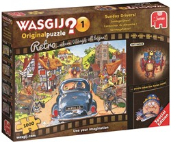 Wasgij Retro Original Puzzel 1 - Zondagsrijders (1000 stukjes)