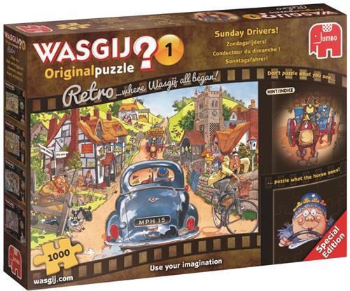Wasgij Retro Original Puzzel 1 - Zondagsrijders (1000 stukjes)-1