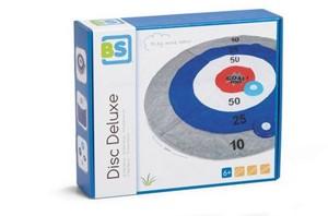 Disc deluxe lijkt op darts, maar dan anders. probeer de drie disks vanaf een afstand op de ring met de meeste ...