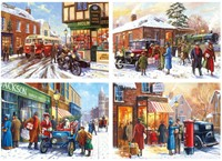 Winter About Town Puzzels (4 x 500 stukjes)-2