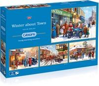 Winter About Town Puzzels (4 x 500 stukjes)-1