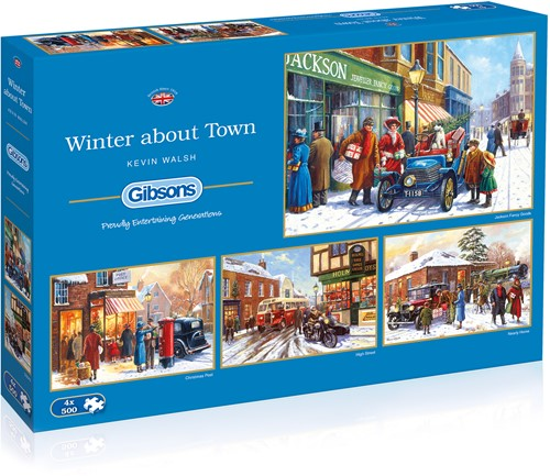 Winter About Town Puzzels (4 x 500 stukjes)