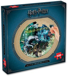 Harry Potter Magical Creatures Round Puzzel (500 stukjes)