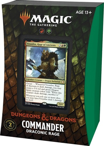 Magic The Gathering - Adventures in the Forgotten Realms Commander Deck - Draconic Rage