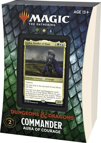 Magic The Gathering - Adventures in the Forgotten Realms Commander Deck - Aura of Courage