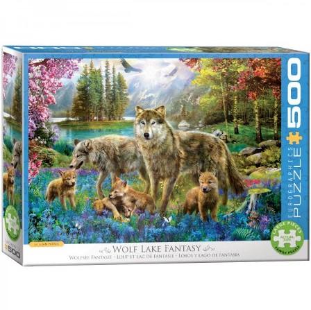 Wolf Lake Fantasy Puzzel (500 XL stukjes)