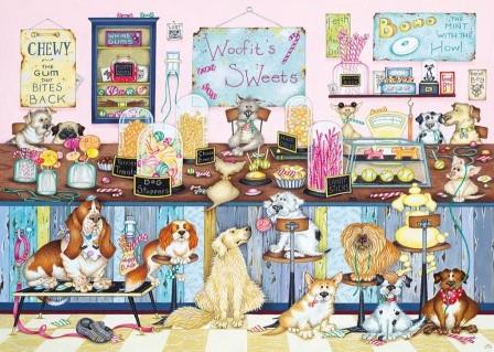 Woofit's Sweet Shop Puzzel (500 XL stukjes)