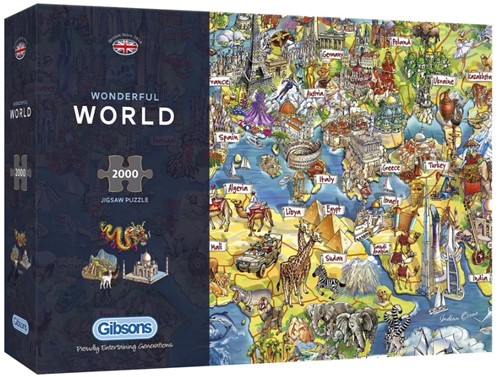 Wonderful World Puzzel (2000 stukjes)