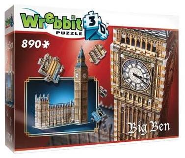 Wrebbit 3D Puzzel - Big Ben (890 stukjes)