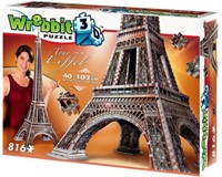 Wrebbit 3D Puzzel - Eiffeltoren (816 stukjes)-1