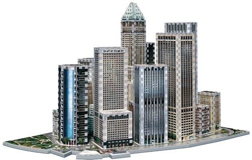 Wrebbit 3D Puzzel - New York Financial (925 stukjes)