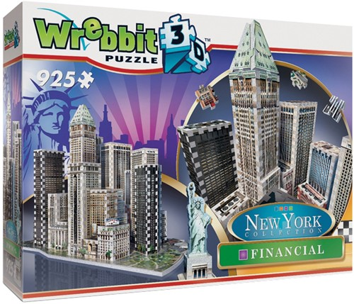 Wrebbit 3D Puzzel - New York Financial (925 stukjes)