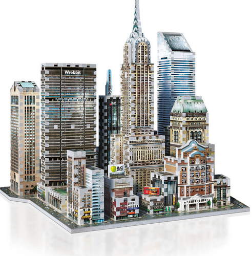 Wrebbit 3D Puzzel - New York Midtown East (875 stukjes)-2