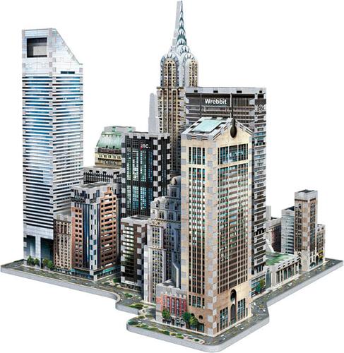 Wrebbit 3D Puzzel - New York Midtown East (875 stukjes)