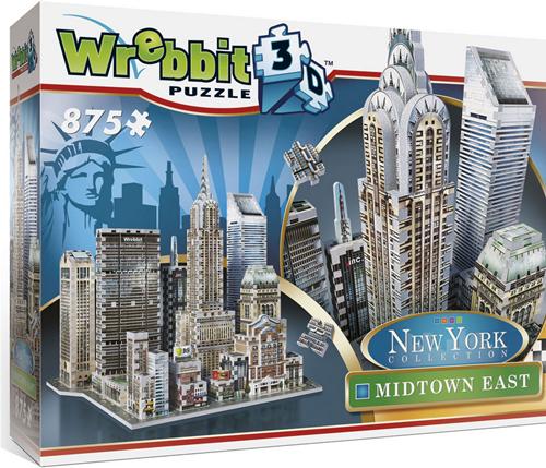 Wrebbit 3D Puzzel - New York Midtown East (875 stukjes)-1