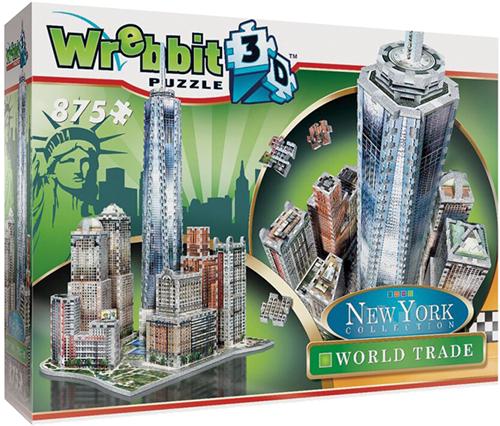 Wrebbit 3D Puzzel - New York WTC (875 stukjes)