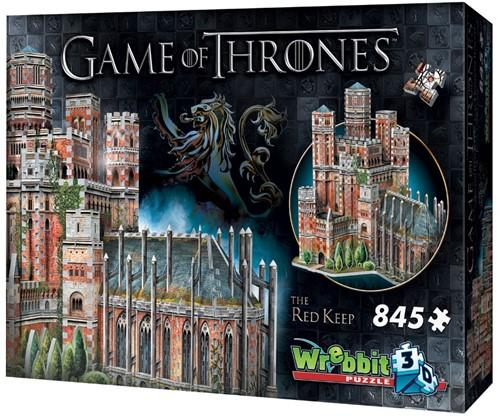 Wrebbit 3D Puzzle - Game of Thrones The Red Keep (845 stukjes)