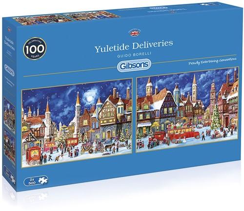 Yuletide Deliveries Puzzel (2x500 stukjes)